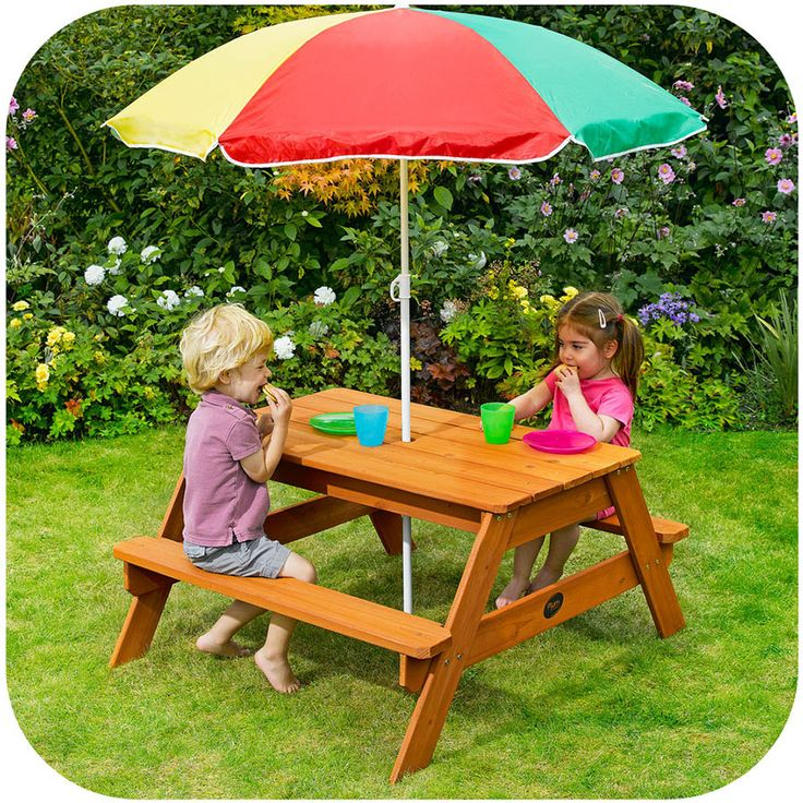 Plum Picnic Table with Umbrella | ToysRUs BabiesRUs