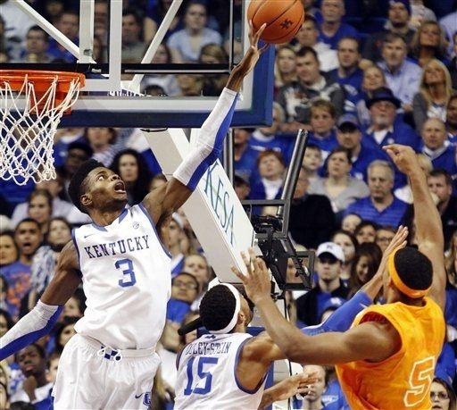 Tennessee Volunteers vs. Kentucky Wildcats -  January 15, 2013 - Blocked by Nerlens Noel.