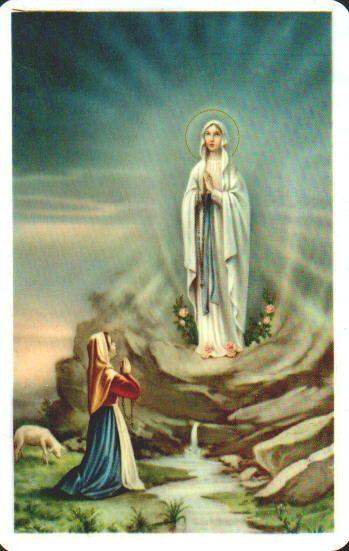 Feb 10th 2015 praying for our loved family members. Our Lady of Lourdes, prays for the sick, the injured and all in need of healing. #SaintOfTheDay