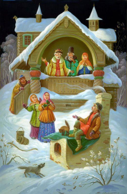 Публикация: Сказки в Федоскинской миниатюре | Сообщество «Ветер Перемен»