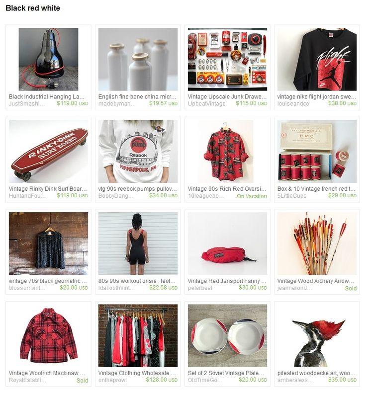 https://www.etsy.com/treasury/MzM3Mjg2NDJ8MjcyNDg2NjY1Mw/black-red-white #black #red #white #mood #nike #reebok #jansport #streetwear #vintage #home #skateboard #industrial #native #essentials