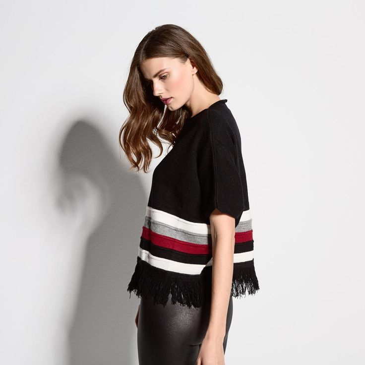 Top knitted with stripes