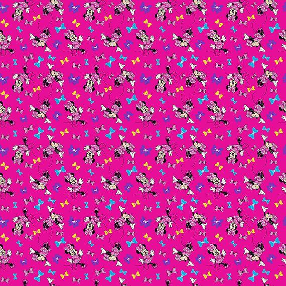 Disney Fabric Minnie Mouse Fabric Minnie's Best Bow KNIT