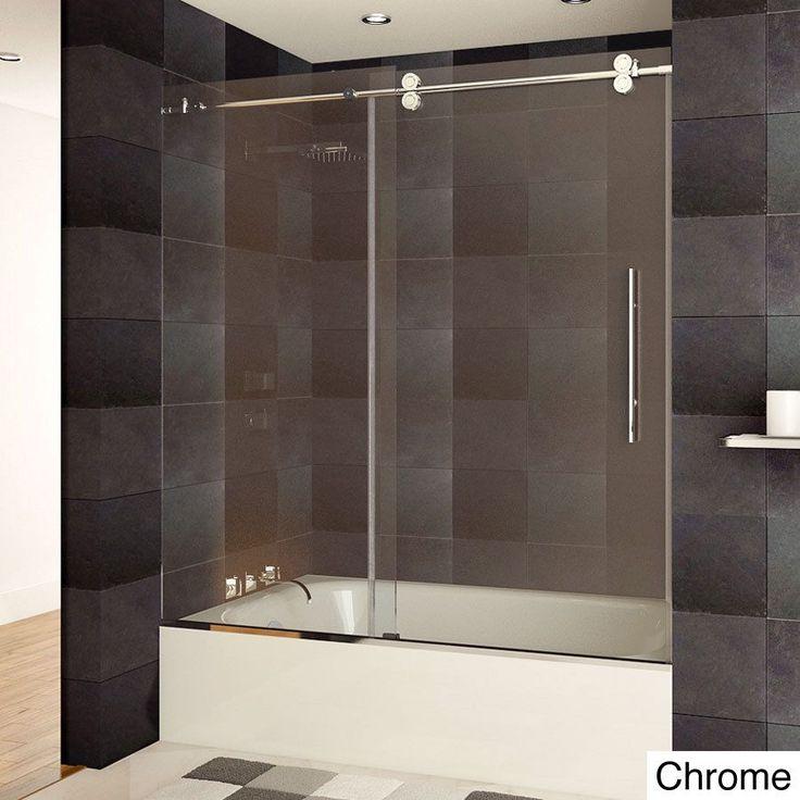 This Lesscare Ultra B Frameless Bathtub Shower Door Is