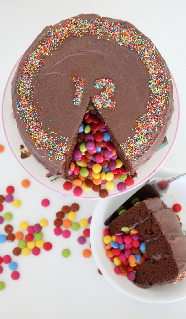 Don't judge a cake by its cover! Especially not a Piñata cake :)