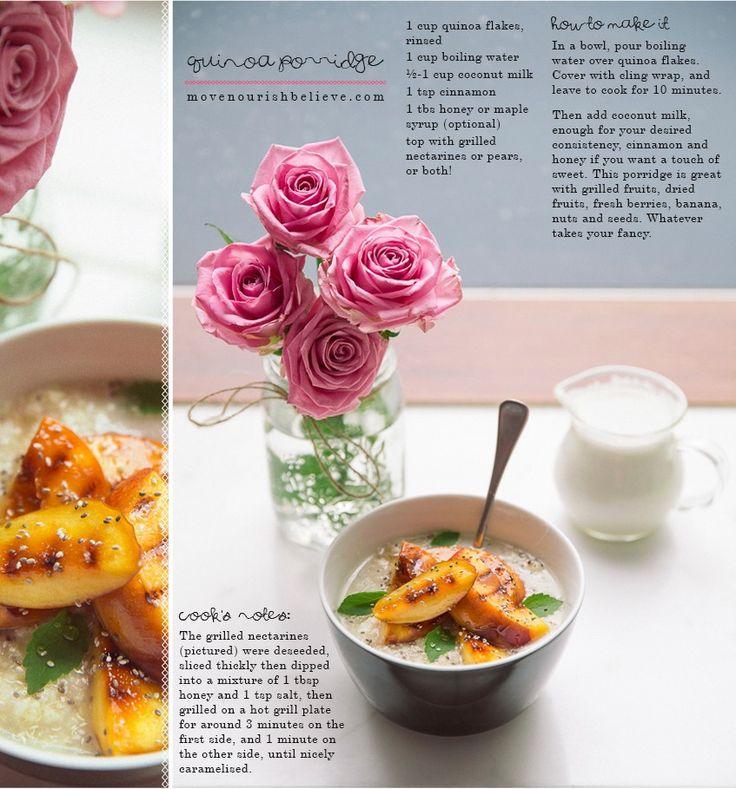 Quinoa porridge recipe.