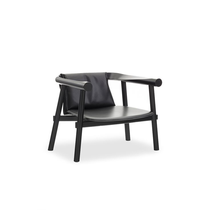Altay armchair full grain leather good furniture nel for Mobili neri