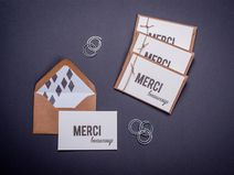 merci beaucoup, thank you notes