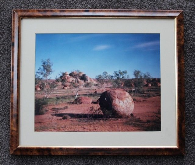 Fabulous Framed Art Featuring - The Devil's Marbles, NORTHERN TERRITORY #Realism