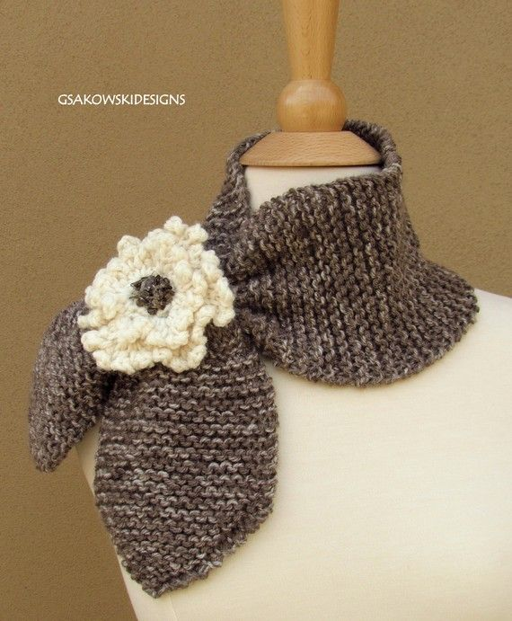 new take on an old design... add a knitted flower!
