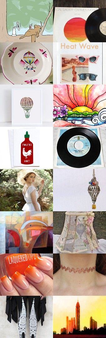 Heat Waves and Hot Air Balloons by Carla on Etsy--Pinned+with+TreasuryPin.com
