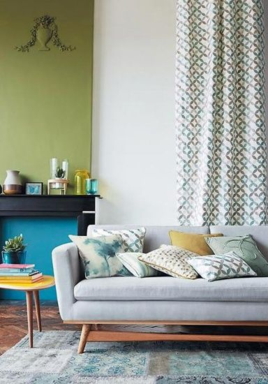 Lindgrün, Himmelblau, Senfgelb: die Farbpalette der 50er Jahre