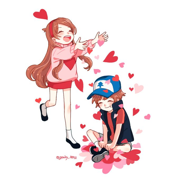Hey Dipper! Happy Valentines Day!! ♥ ~Mabel Yeah..Happy Valentines Day Too.~Dipper