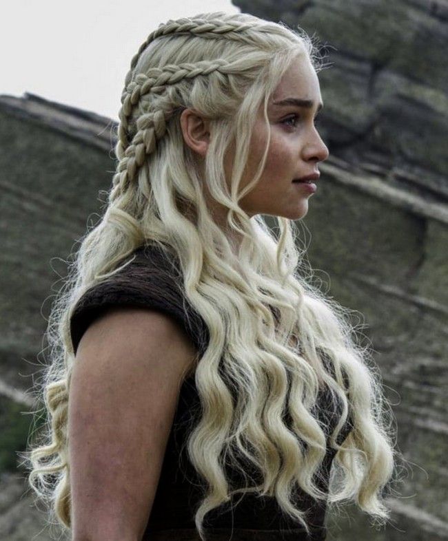 Emilia Clarke Daenerys Targaryen Haar Tutorial Neue Besten Frisur Mittelalterliche Frisuren Viking Frisur Flechtfrisuren