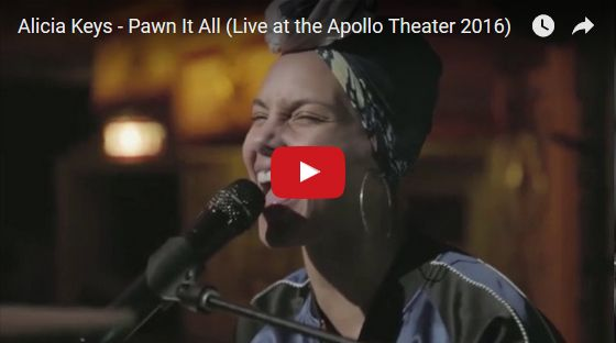 Watch: Alicia Keys - Pawn It All (Live at the Apollo Theater 2016) See lyrics here: http://aliciakeyslyric.blogspot.com/2017/03/pawn-it-all-lyrics-alicia-keys.html #lyricsdome