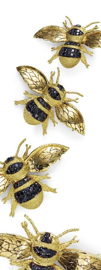 Fairfax & Roberts. In 18ct yellow gold and adorned with black diamonds, it's an opulent take on the industrious little insect. Photographed by Todd Sutherland.