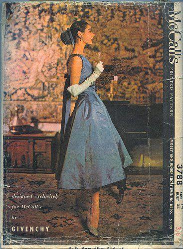 The 60'sDresses Pattern, Evening Dresses, Vintage Sewing Pattern, Vintage Fashion, Audrey Hepburn, Vintage Givenchy, Mccall 3788, Vintage Pattern, Fashion Ads