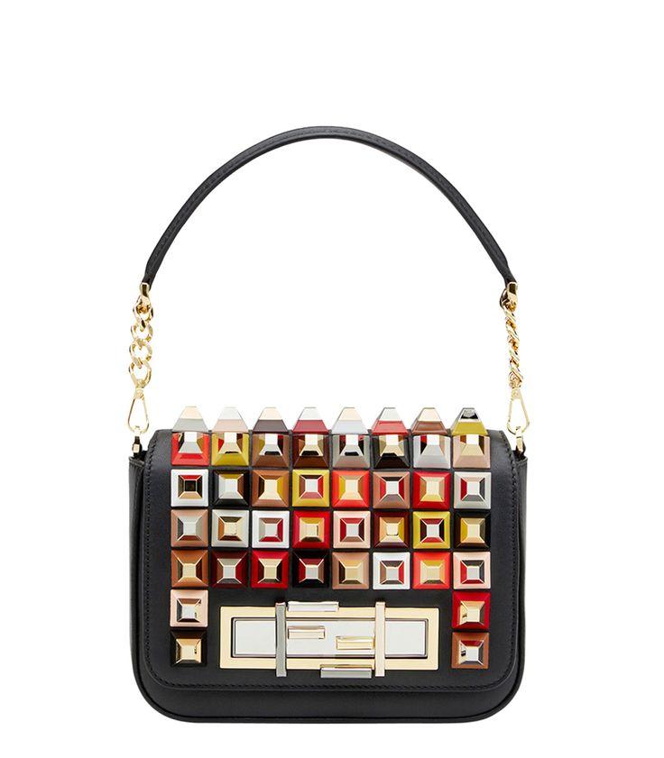 Fendi Studded 3Baguette Shoulder Bag