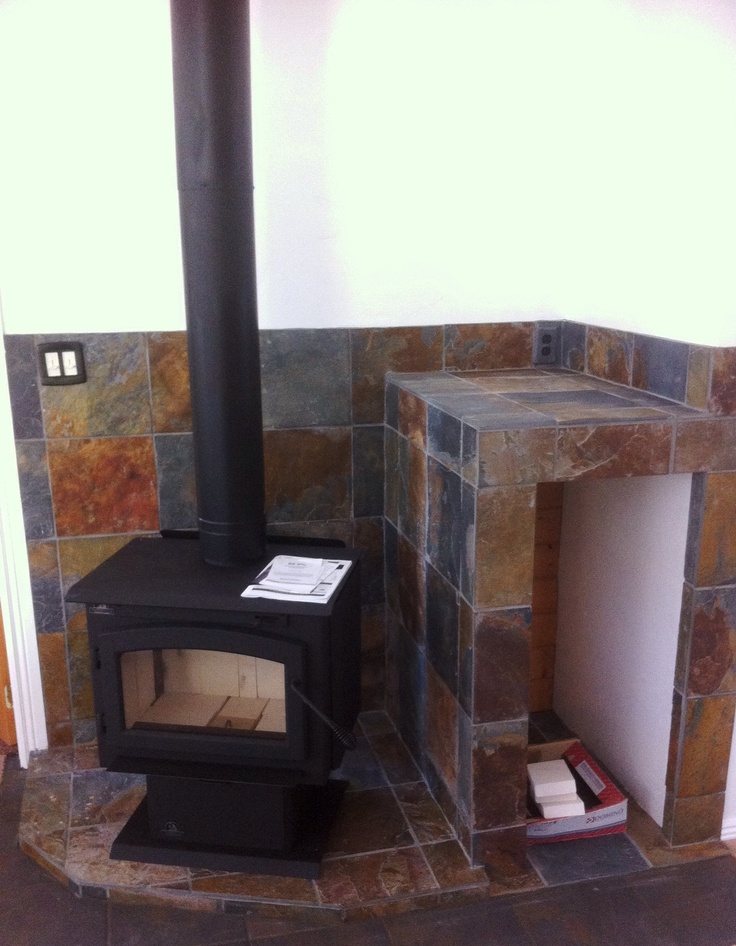 Timberwolf Freestanding wood stove (with ash-pan & Pedestal); Complete  install by - 8 Best Wood Stove Pedestals Images On Pinterest