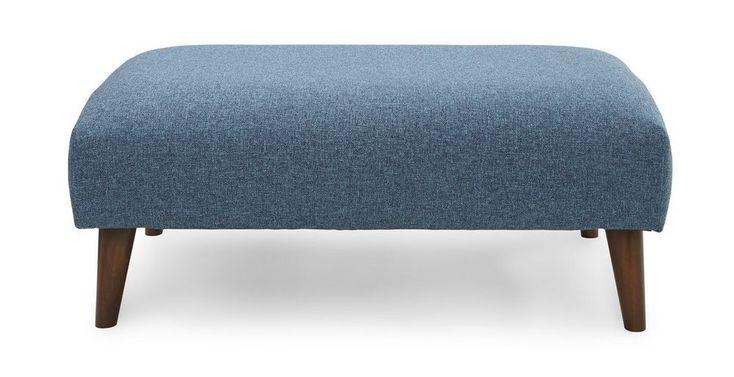 Zinc Express Plain Large Footstool | DFS