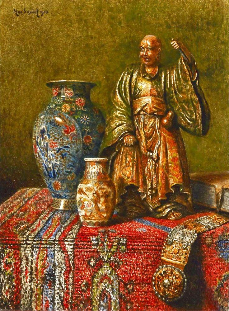 Max Schödl (1834-1921) —  Still Life with Oriental Antiques,1899  (884×1200)