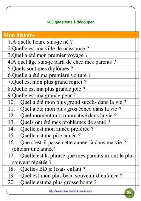 Faire connaissance question [PUNIQRANDLINE-(au-dating-names.txt) 53