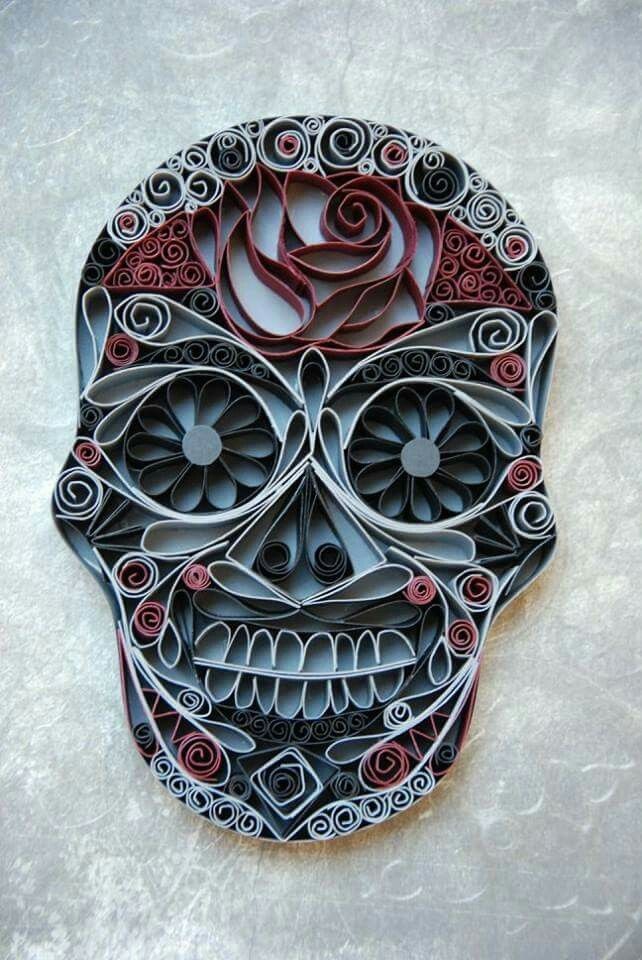 Skulls by quilling paper