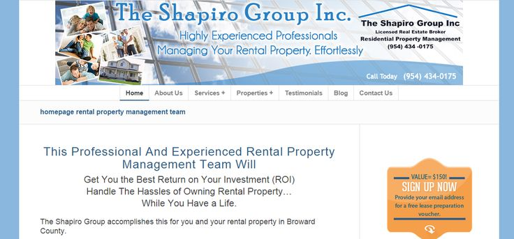 website for Shapiro Property Management company