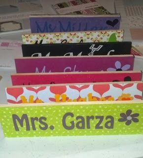 Teacher Name Plates for their desks! Great gift idea!