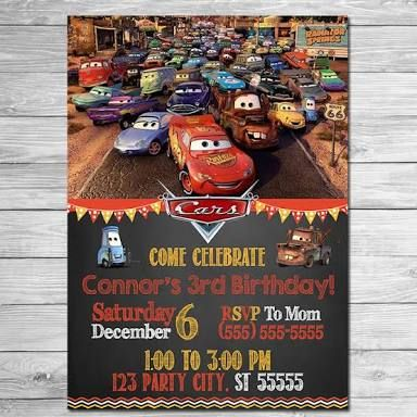 movie cars invitations for a stork party - Google Search