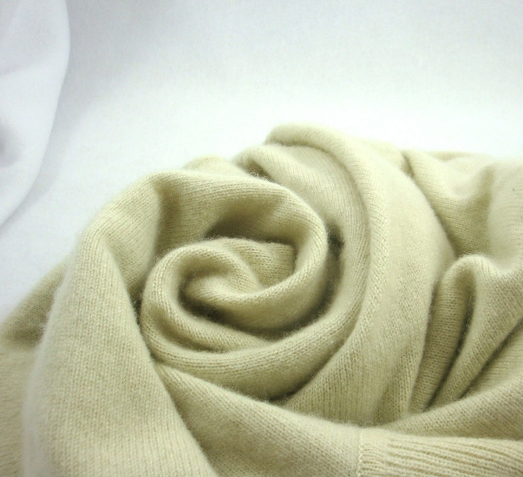 Pale Yellow Green Cream Cashmere Thrifted Sweater for Upcycled Crafting. $10.00, via Etsy.