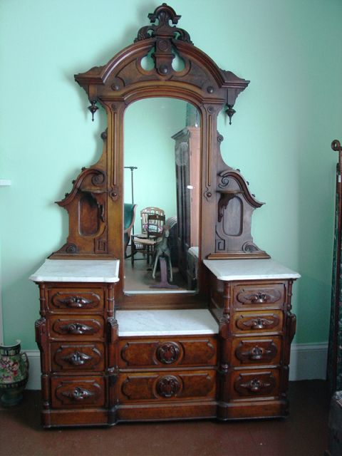 Beautiful Victorian Vanity Dresser...My mother has one very similar to this!