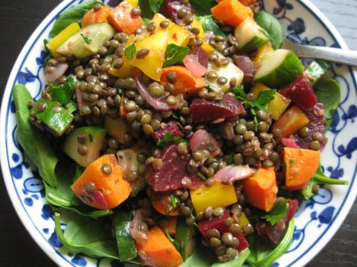 French Lentil Salad | Vegan Salads that Steal the Show | Pinterest