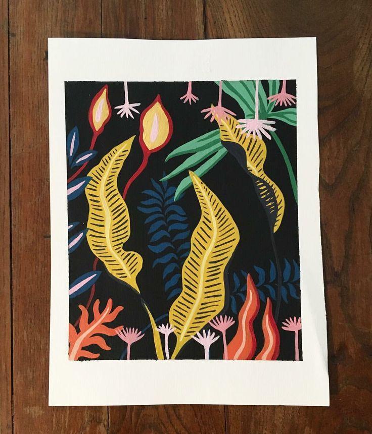Pattern foglie. #illustration