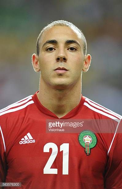 Noureddine Amrabat of Morocco during the 2012 African Cup of Nations Group C match between Morocco and Tunisa at the Stade de l'Amitie in Libreville...