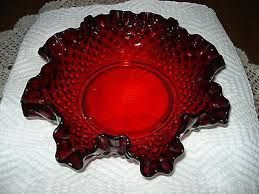 Image result for 1940's ruby red glassware