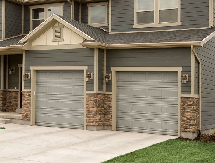 Martin garage door, grooved panel garage door, desert taupe garage door. curb appeal, beautiful garage door.