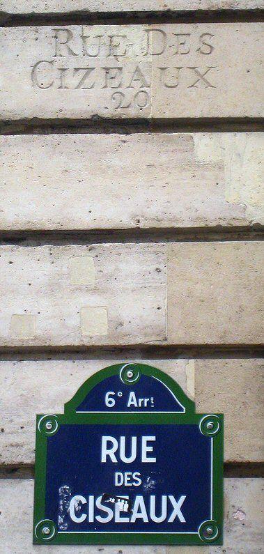 La rue des Ciseaux  (Paris 6ème).