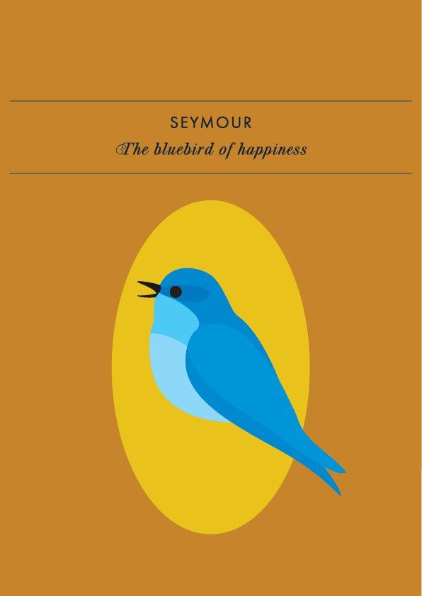 SEYMOUR THE BLUEBIRD OF HAPPINESSIt's easy to forget happiness is a state of mind we can enter when we focus on the beauty and love within us and surrounding us. Seymour, the bluebird of ha...