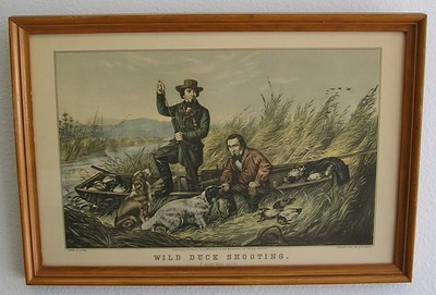 Currier & Ives Framed Print-Wild Duck Shooting A Good Days Sport-A.F. Tait