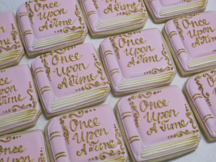 Storybook Decorated Sugar Cookies - Fairy Tales, Princess Theme, Birthday Party Favors, Wedding, Shower, Personalized, Story Book Cookies by MartaIngros on Etsy https://www.etsy.com/listing/237801562/storybook-decorated-sugar-cookies-fairy