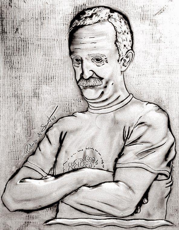 ArteyMetal: Retrato de Santi Rodríguez 1