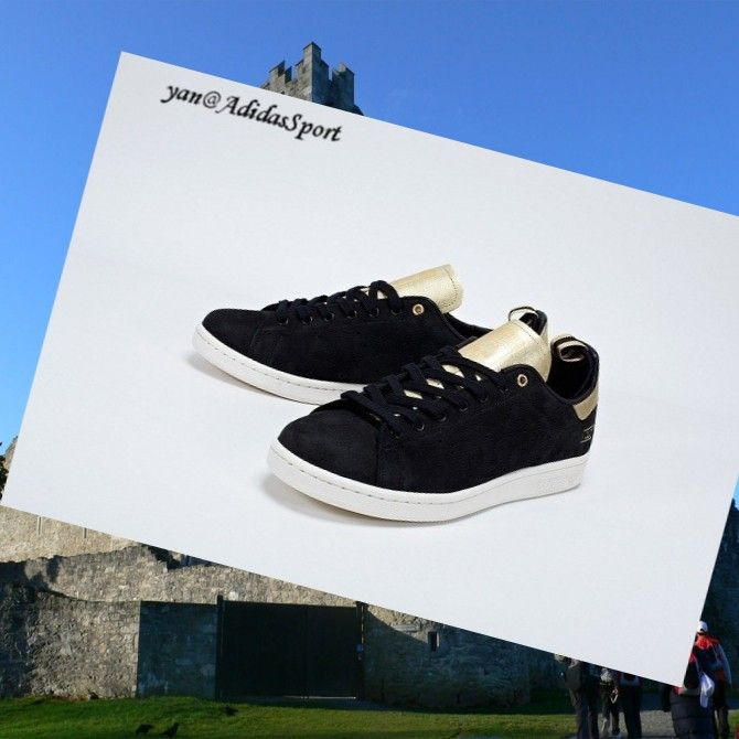 Black Chalk Gold - Adidas Consortium Clot X - Adidas Stan Smith men Trainers,Wearing trainers will have a nice day.