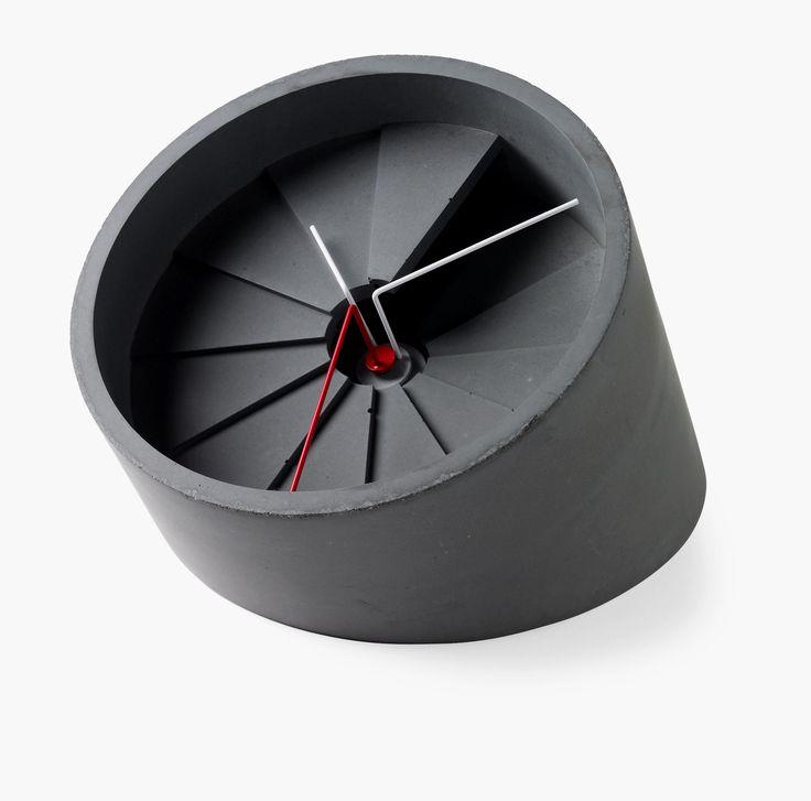 4th Dimension Concrete Desk Clock At MoMA Store, Momastore.org.
