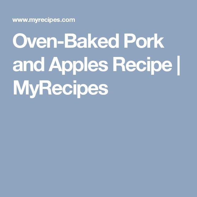 Pork stew with apples recipe