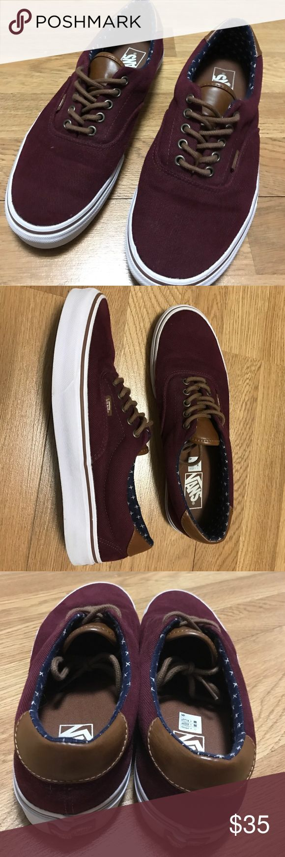 Maroon vans Maroon vans.  Only worn a few times. Only a few unnoticeable specs here and there. Overall, fantastic condition! Vans Shoes
