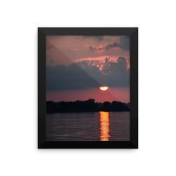 Framed photo paper poster: Sunset Reflection-2