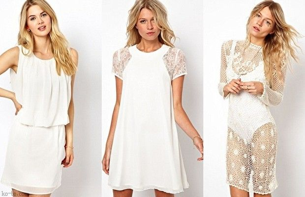 лучшие летние платья 2013. Короткие летние белые платья