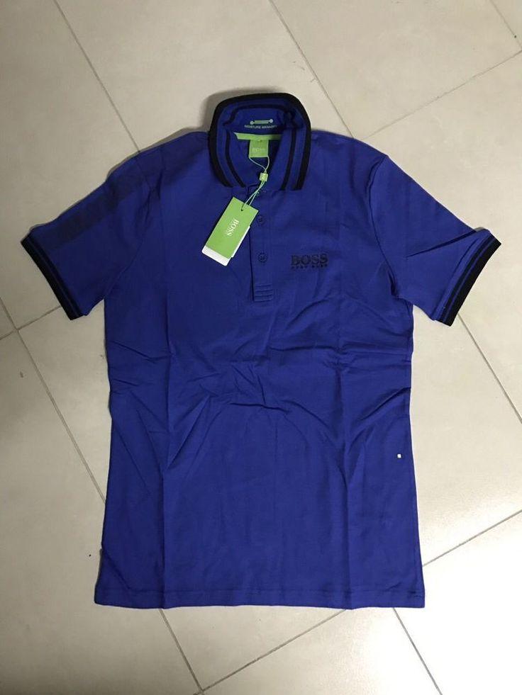 Men Hugo Boss New Green Label Polo T-shirt size S Color Blue #HuggoBoss #MoistureManeger