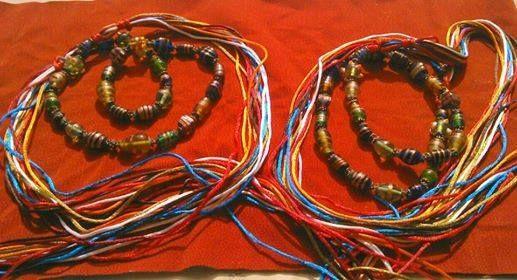 Cintura con perle di vetro (Provenienza: Marocco)